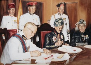 Brunei Independence - The British Signing by Mai Griffin