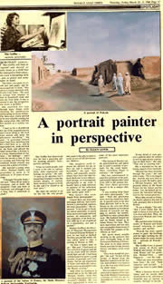 A portrait artist in perspective - Mai Griffin - excerpt from The Gulf Times