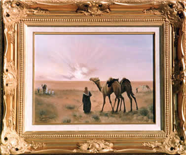 Camel Sunset - Qatar by Mai Griffin