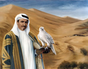 The Falconer, The Late Sheikh Mohammad bin Ali Al Thani by Mai Griffin