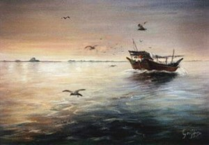 Following the Dhow - Qatar in the Eighties by Mai Griffin