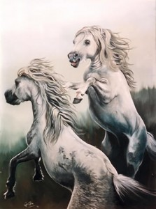 Galician Ponies by Mai Griffin