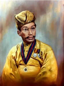 The Late Sultan Tajuddin of Brunei - Official Portrait by Mai Griffin