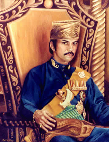 H.M.The Sultan of Brunei c. 1959 - Official Portrait by Mai Griffin