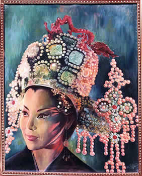 Actress Li Hua Li as Empress Wu Tse-Tien (1963) by Mai Griffin