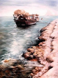 Qatar Dhow - Qatar in the Eighties by Mai Griffin