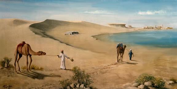 Qatar, Inland Sea by Mai Griffin