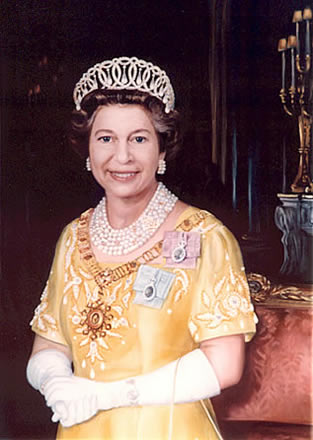 Queen Elizabeth II by Mai Griffin