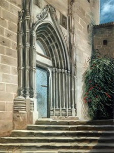 The Steps of San Bartolome, Javea - by Mai Griffin