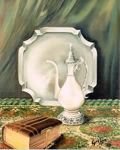 Still life in Silver and Leather by Mai Griffin