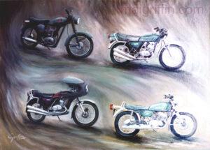 Portrait of Four bikes by Mai Griffin