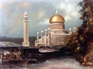 Brunei Mosque by Mai Griffin