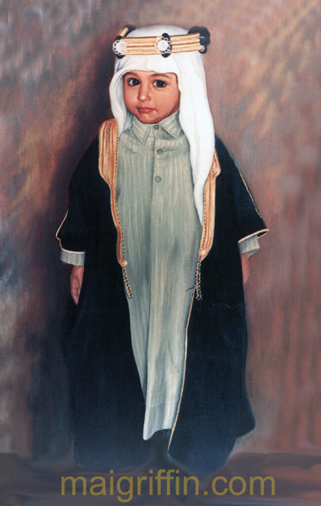 Young member of the Mohannidi family (Qatar c.1985) by Mai Griffin