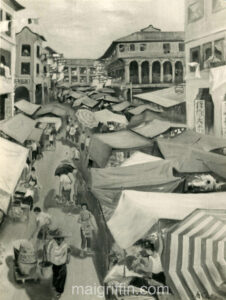 Singapore Market (1962) by Mai Griffin