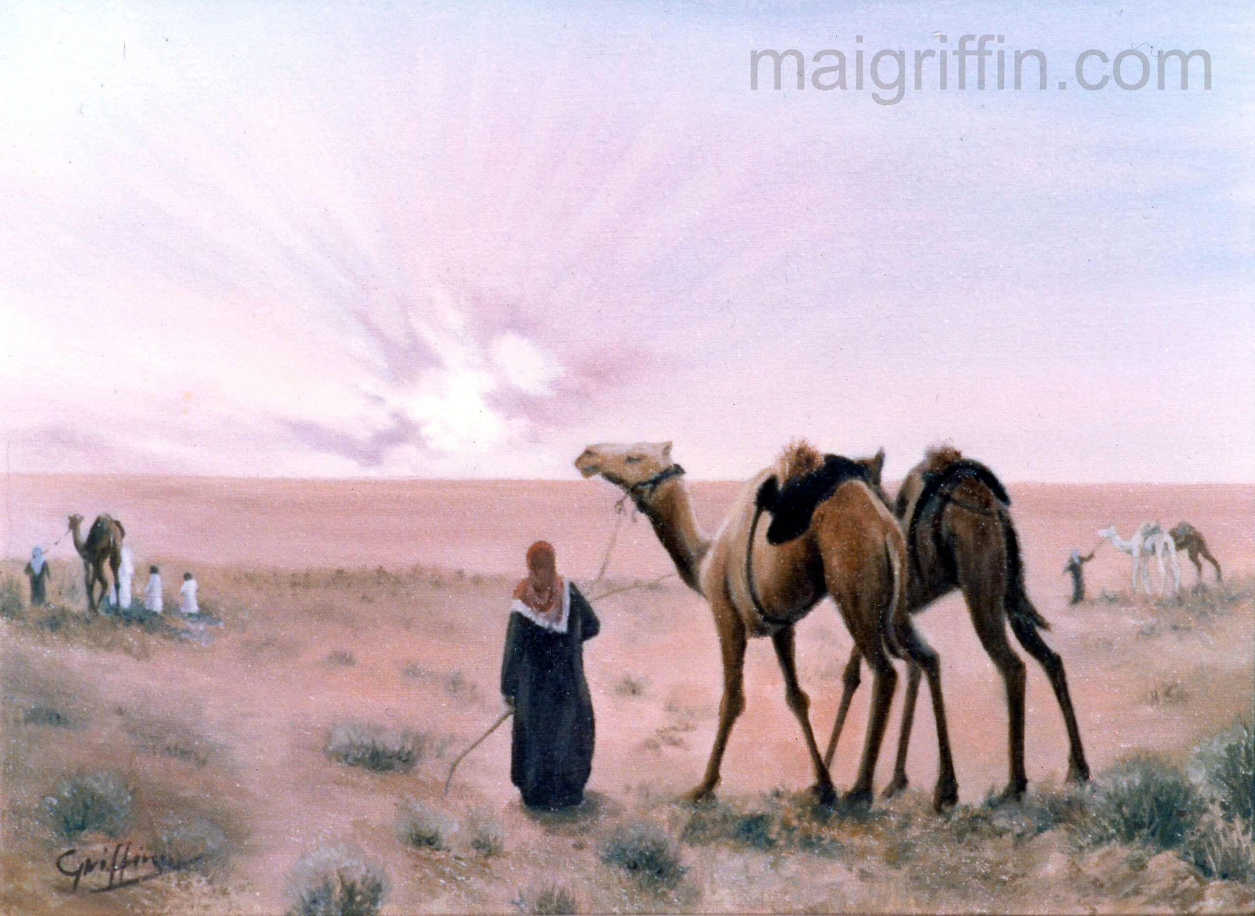 Camel Dawn by Mai Griffin